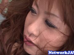 Threesome loving asian babe gets screwed