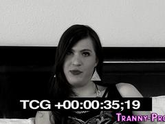tranny hooker facialized masturbation