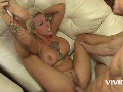 Vivid.com - Wild blonde horny bitch gets her tight hole drilled my this man machine