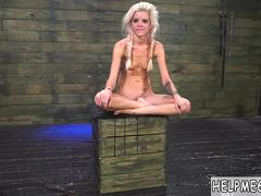 Extreme brutal bondage gangbang Halle Von is in town on vacation with her boycomrade