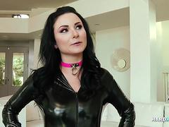 Latex slut Veruca James gets DPed