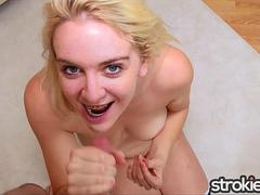 STROKIES Blonde Marilyn Moore Cum on Braces
