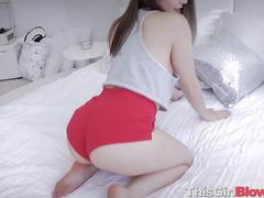 Horny Kylie Quinn Gives Blowjob POV