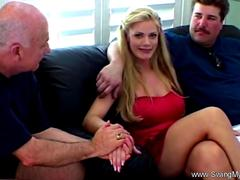 Blonde wife MILF fuck other man's big dick