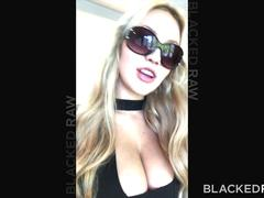 BLACKEDRAW Blonde girlfirend cheating at after party with black promoter