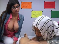 Indonesian maid arab BJ Lessons with Mia Khalifa