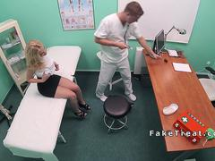 doctor bangs slim blonde patient film