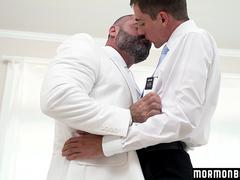 MormonBoyz - Straight boy missionary barebacked by dominant muscle bear priest