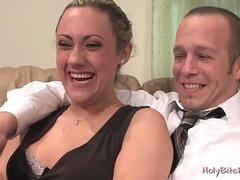Gwen Diamond pegging submissive guy