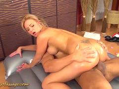 Nathaly Cherie gives slippery nuru massage