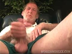 Mature Amateur Ron Jerks Off