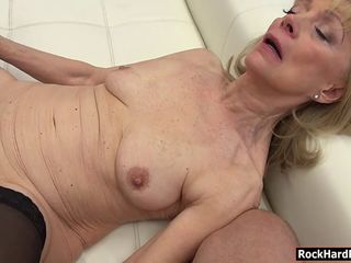 Teen and granny anal threesome session with nasty Rocco
