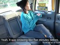 Petite amateur in boots rimming in fake cab