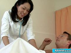 Asian nurse gets double penetrated by her patients