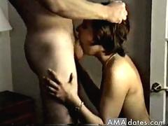 sloppy deepthroat with cum in the mouth movie