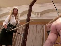 Latex Mistresses Punishing Sub Boys