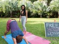 Monster tits Latina yoga teacher bangs outdoor