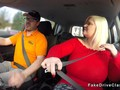 Huge tits granny bangs driving instructor