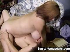 Busty amateur Helena on hardcore threesome