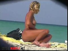 Chicks are on the nudist beach