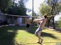 Young married men fucking hard after outdoor volleyball