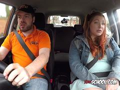 Slut Estella Bathory Masturbates For Driving Examiner