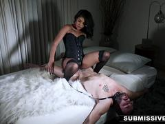 Submissived - Sexy Ebony Teen Controls Sex Until Shes Satisfied