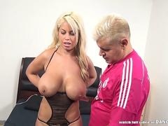 Bridgette B takes a white and a black dick