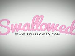 SWALLOWED Gorgeous Ariana Marie throat fucked!