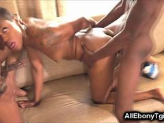 Teen African Trans Takes 2 BBCs!