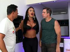 Two Thugs Have Their Way with Sultry Transsexual Erika Lee