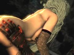 Firekeeper rides big dick and gets missionary