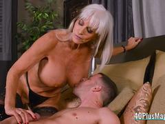 Milf Mistress Uses Slave's Big Dick