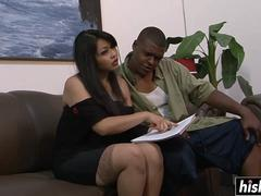 asian cutie craves for a dark dong feature
