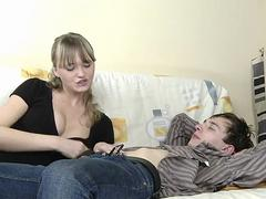 Blonde Gina is a master of blowjob