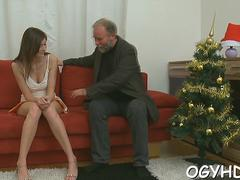 horny old dude teases  babe video movie 1