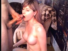 Amateur couple deepthroat and face fucking