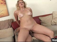Tattooed guy pleases a blonde babe