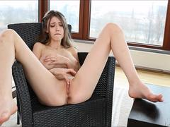 Naughty Teen Mila Azul Finger Tight Pussy