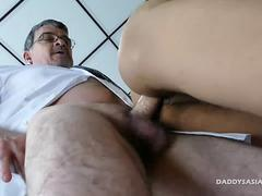Daddy Dildo Fucks Asian Boy Jude