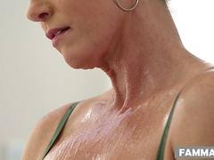 India Summer massaging her step son