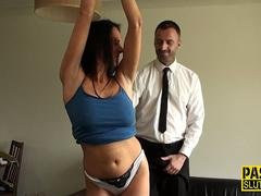 Milf submissive tied up