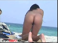 Nude beach adventure of fabulous little bimbos exposing their tight bodies