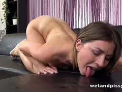 Wetandpissy - Piss drinking Paulina Soul wets her denims