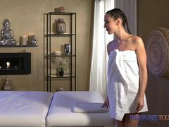 Massage Rooms Sexy brunettes squirting orgasms
