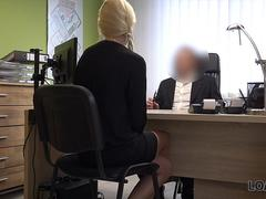LOAN4K. First porn casting of Karol in office of loan manager