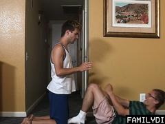 FamilyDick - Father and Son Sucks and Rides Twinks Big Cock