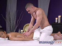 Massage Rooms Skinny with big tits dark skin angel fucked by masseur