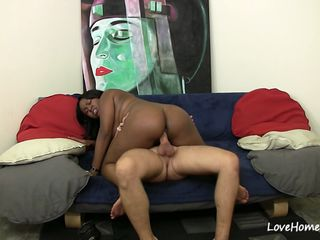 Pleasuring his big hard cock before having sex