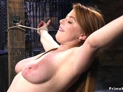 Huge tits babe gets dp dicks on a stick